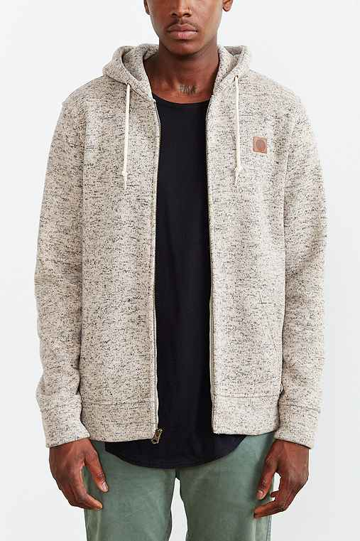 OBEY Conway Zip Hooded Sweatshirt,CREAM,S