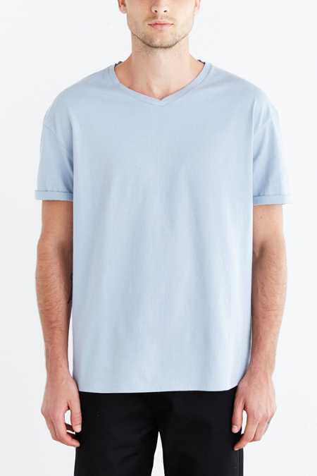 Feathers Oversized Boxy V-Neck Tee