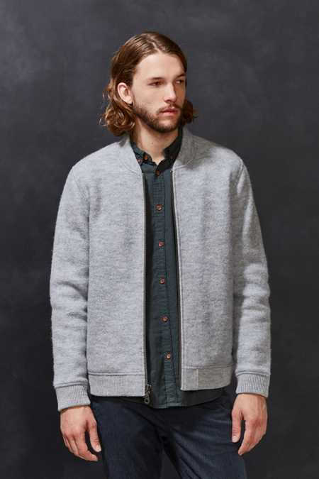CPO Ellsworth Boucle Wool Bomber Jacket