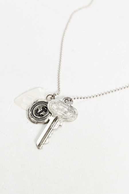 Guitar Pick Mixed Charm Necklace
