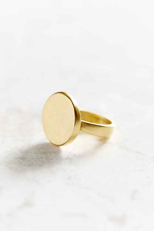 Name Plate Ring,GOLD,6
