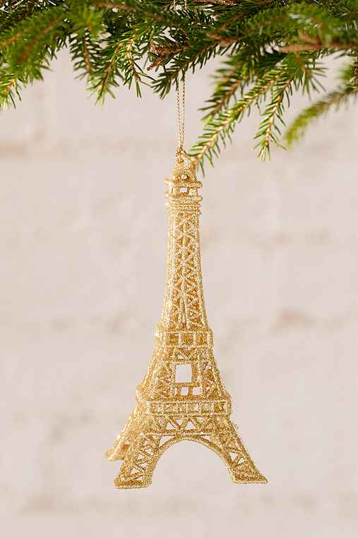 Eiffel Tower Ornament,GOLD,ONE SIZE