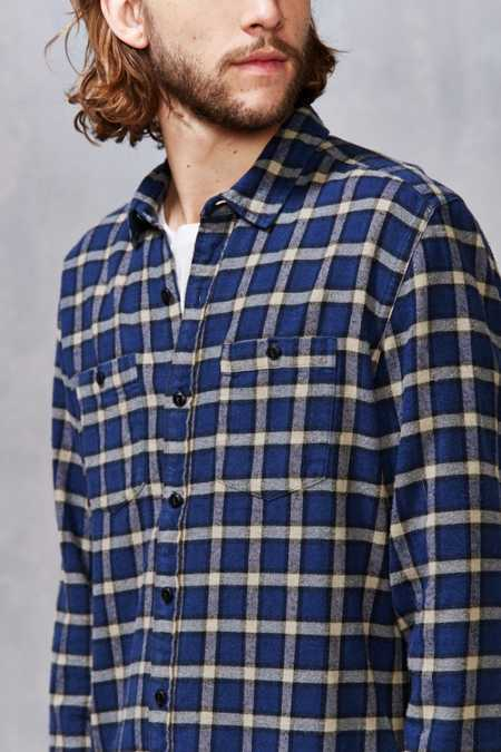 Stapleford Chico Plaid Flannel Button-Down Shirt