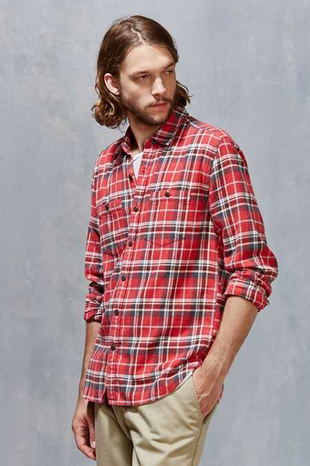 Stapleford Rowan Acid Plaid Flannel Button-Down Shirt