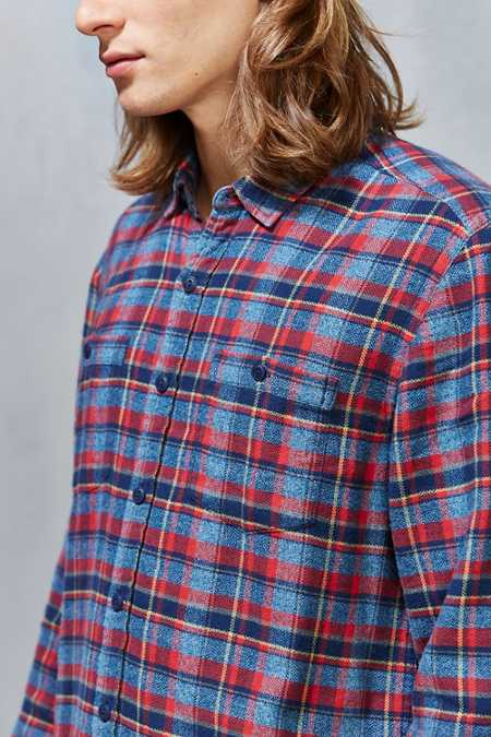 Stapleford Parker Plaid Flannel Button-Down Shirt