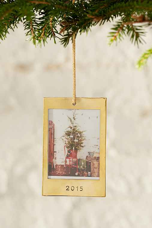 Instax 2015 Frame Ornament,GOLD,ONE SIZE