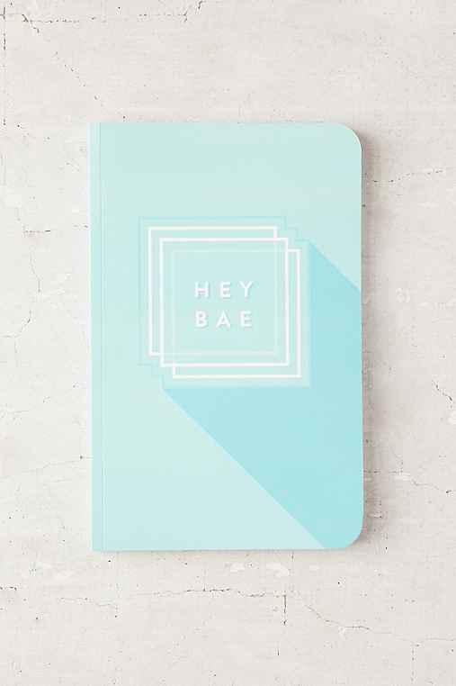 Hey Bae Notebook,TURQUOISE,ONE SIZE