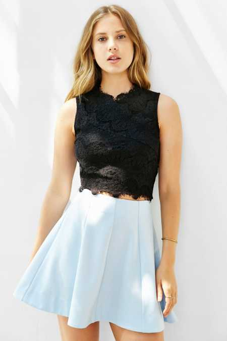 Kimchi Blue Lacey Cropped Tank Top