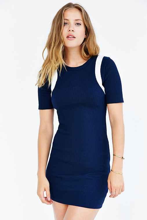 BDG Ribbed Mini Tee Dress,BLUE MULTI,M