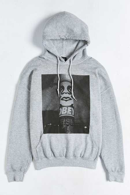 OBEY Poster Pole Burnout Hooded Sweatshirt