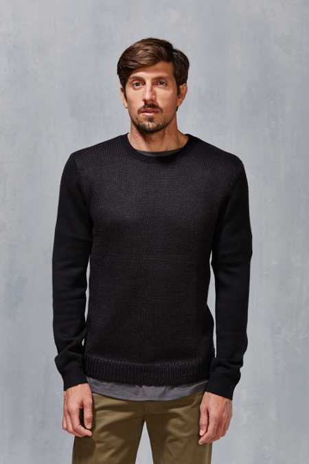 Vanishing Elephant Two Tone Textured Sweater