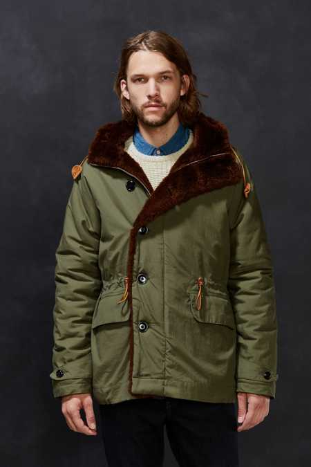 Monitaly Faux Fur-Lined Deck Parka Jacket
