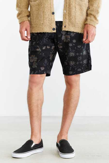 Your Neighbors Floral Print Linen Short