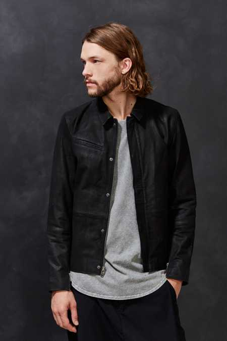 Your Neighbors Suede Moto Trucker Jacket