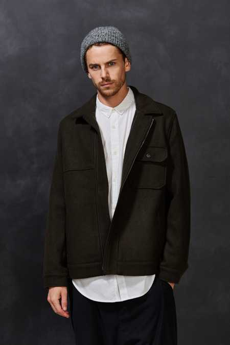 Your Neighbors Wool Zip Trucker Jacket