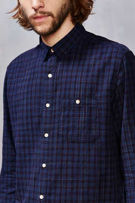 Koto Plaid Spacedye Button-Down Shirt