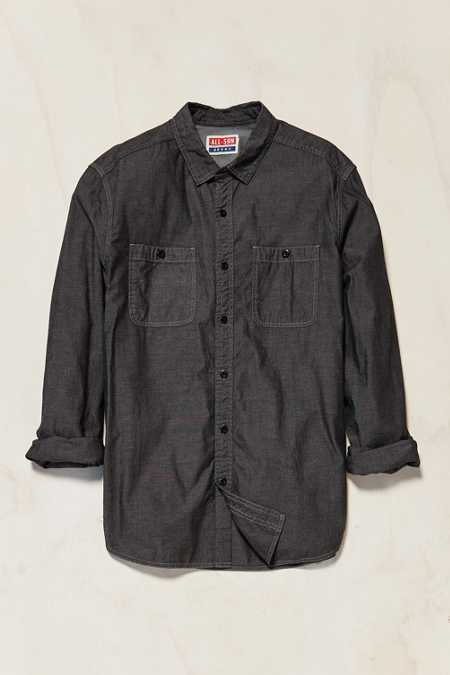 All-Son Chambray Button-Down Workshirt