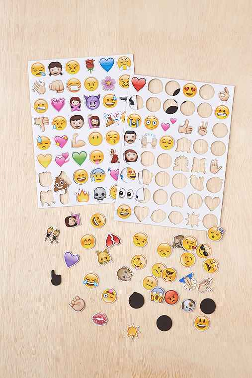 Emoji Magnet Set,MULTI,ONE SIZE