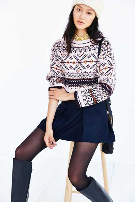 BDG Cropped Anna Sweater