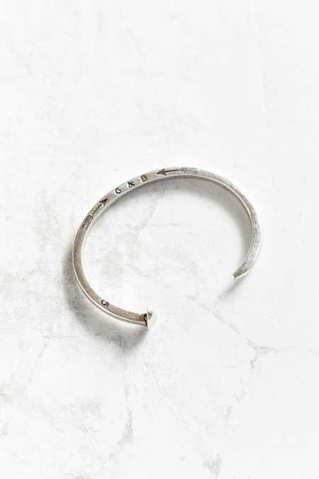 Giles & Brother Skinny Railroad Spike Silver Cuff Bracelet