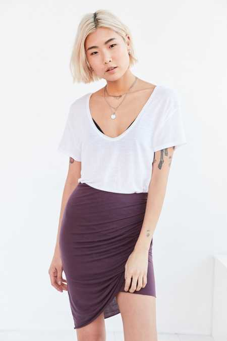 Truly Madly Deeply Twist-Front Midi Skirt