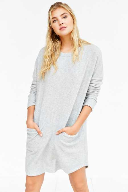 BDG Long-Sleeve Cozy Cocoon Dress
