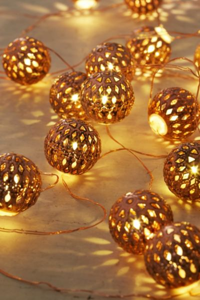 Copper String Lights Anthropologie : Copper Lantern String Lights - Urban Outfitters