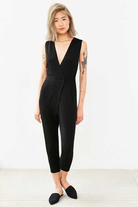 BLQ BASIQ Button-Front Jumpsuit
