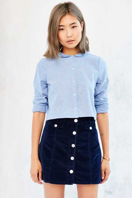 Cooperative Peter Pan Collar Button-Down Shirt