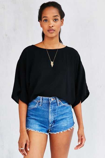 Kimchi Blue Cape Sleeve Cropped Top