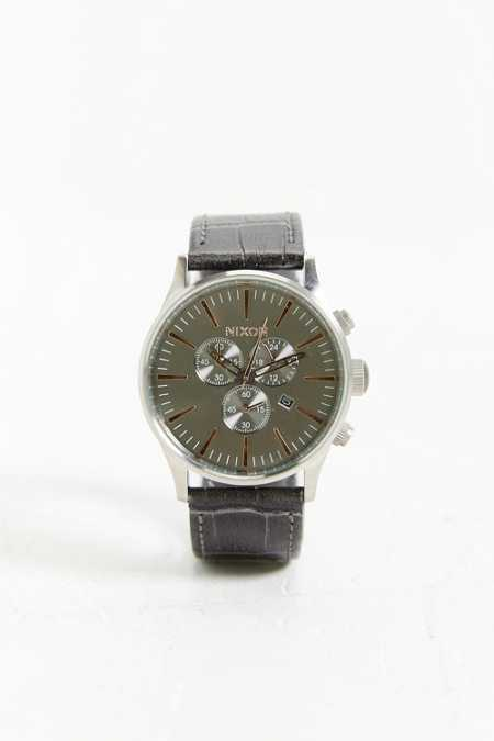 Nixon Sentry Chrono Gator Watch