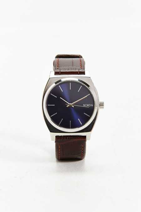 Nixon Time Teller Gator Leather Watch