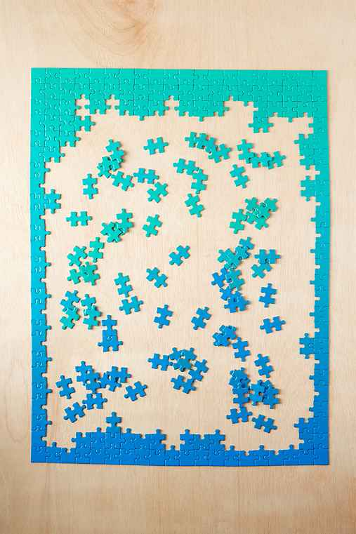 Areaware Gradient Puzzle,GREEN MULTI,ONE SIZE