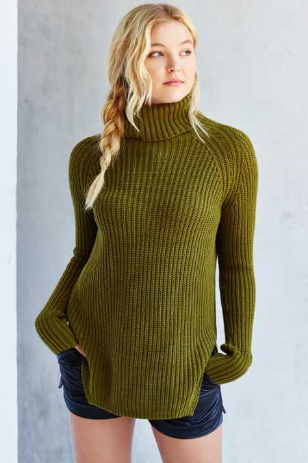 Silence + Noise Harley Shirttail Turtleneck Sweater