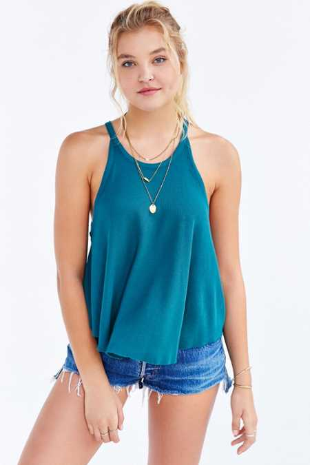 Truly Madly Deeply High-Neck Swingy Tank Top