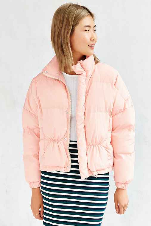 UNIF Certa Puffer Jacket,PINK,M