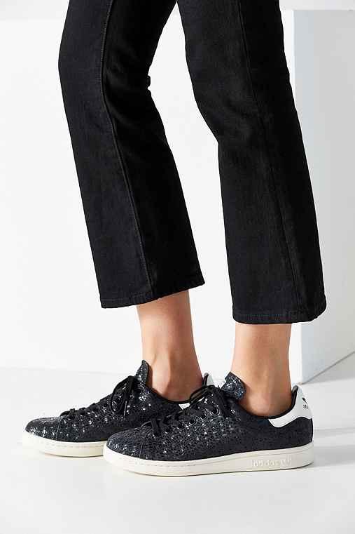 adidas Foil Snake Stan Smith Sneaker,BLACK,10