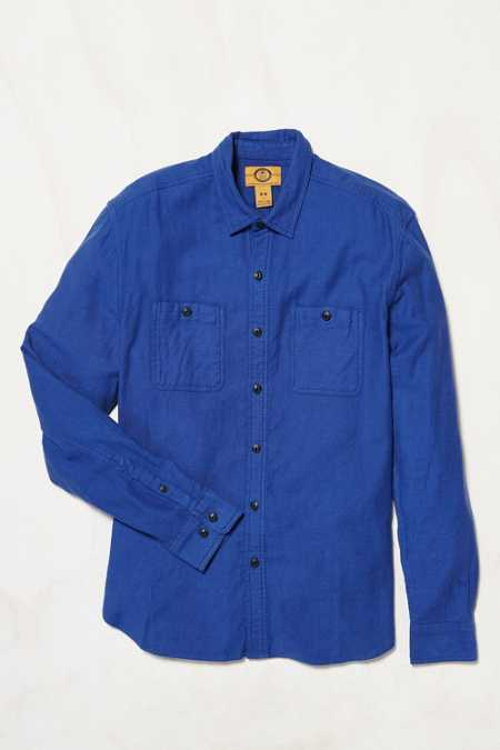 Stapleford Solid Dobby Flannel Button-Down Workshirt