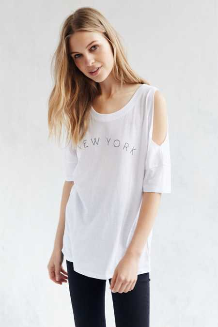 Mouchette City Cold Shoulder Tee