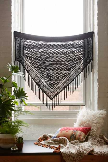 Magical Thinking Burnout Velvet Fringe Window Valance
