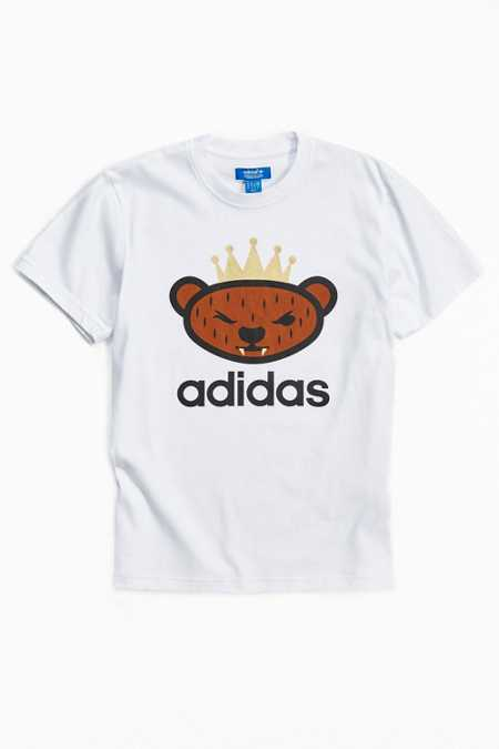 adidas Originals By NIGO Brown Bear Logo Tee