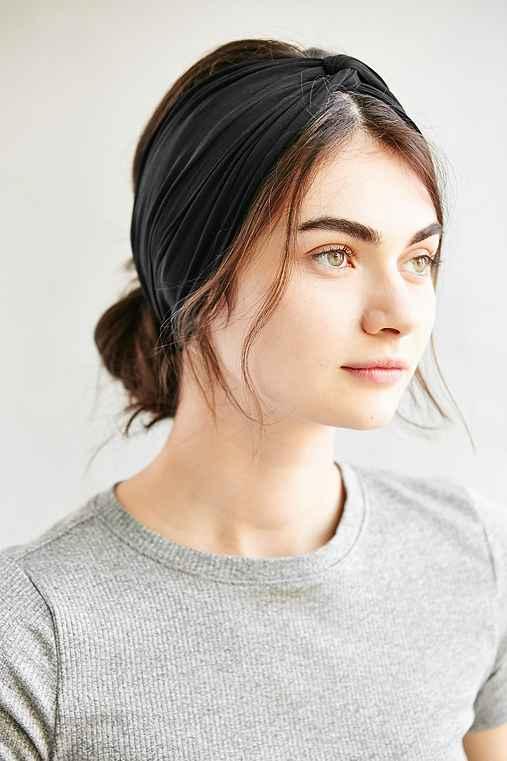Crisscross Bella Headwrap,BLACK,ONE SIZE