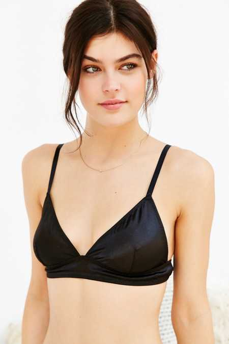 Out From Under Satiny Triangle Longline Bra