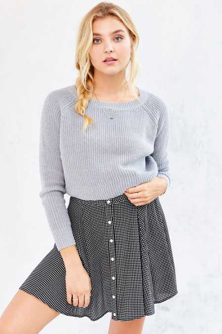 Kimchi Blue Off-Shoulder Cropped Sweater