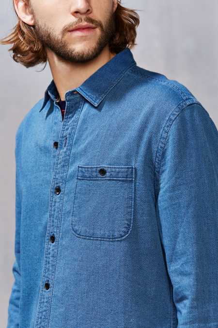 Koto Indigo Dobby Button-Down Shirt