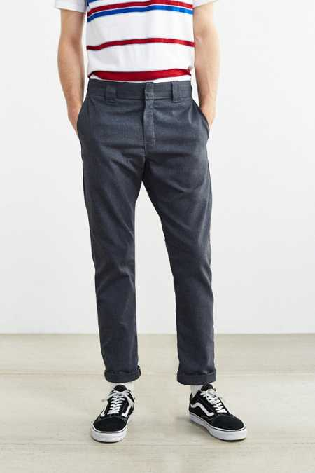UO X Dickies Slim Tapered Herringbone Pant