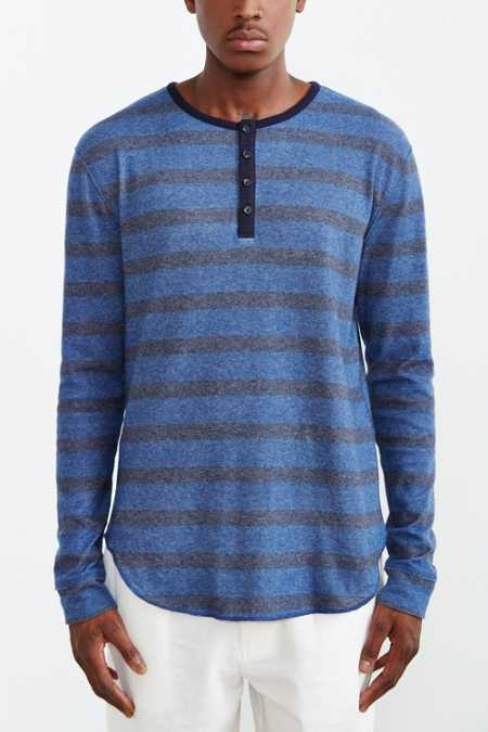 BDG Winterlite Striped Henley Tee