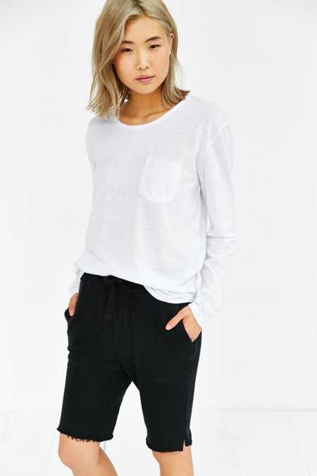 Feathers Unisex Long-Sleeve Curved Hem Tee