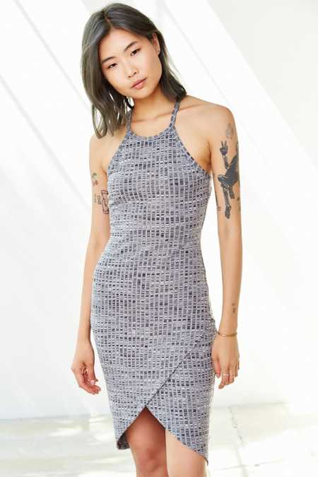 Silence + Noise High-Neck Space-Dye Tulip Dress