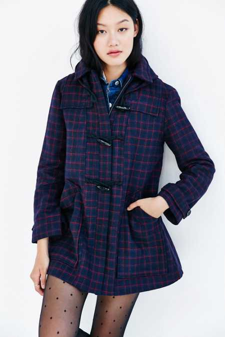 Cooperative Check Duffle Coat